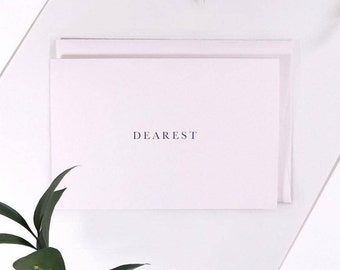 Dearest Greetings Card. With Love