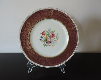 PLATE GRINDLEY Creampetal porcelain English-Vintage