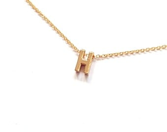"Letter ""H"" Bridesmaid Gift, Wedding Jewelry, Bridesmaid Gift, Gifts for Her, Letter Necklace, Initial Necklace"