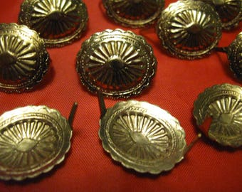 10 Oval Conchos  Metal  free shipping in the u s a