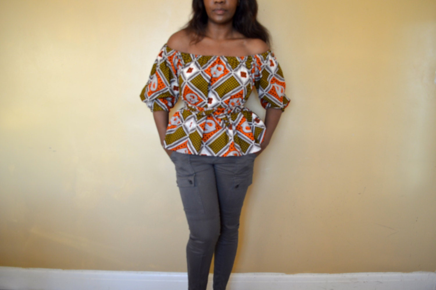 african print clothing off shoulder top ankara top blouse. Black Bedroom Furniture Sets. Home Design Ideas