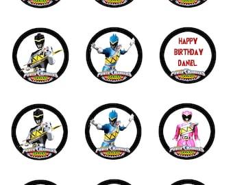 Power Ranger Cupcake Toppers