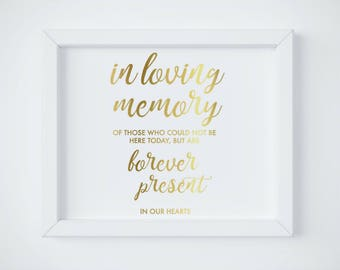 in loving memory instant download printable wedding memorial, Powerpoint templates