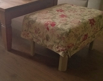 Footstool Cover Etsy