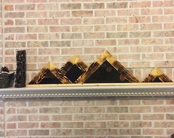 Mountain Range Mantle Piece