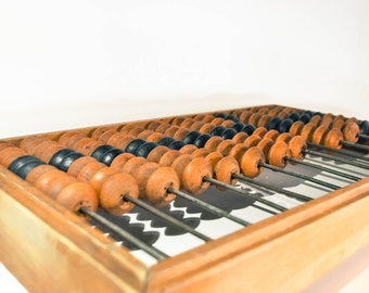 Really Huge Vintage Abacus, Big Old Wooden Abacus, Soviet Calculator, FREE SHIPPING