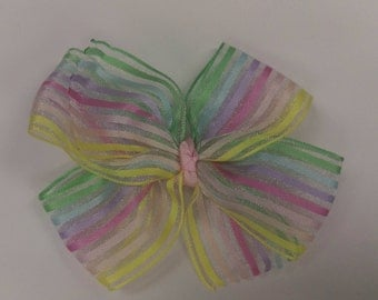 Sheer Rainbow Pinwheel Bows
