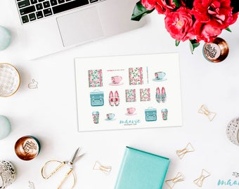 Roses Stationery Sticker Sheet, 1 Bogen
