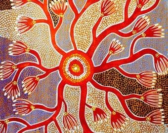 Kangaroo paw Aboriginal style
