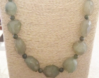 Chunky Nugget Serpentine Necklace