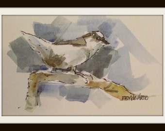 Finch Watercolor Print, Bird Art, 6 x 8 Finch Print, Finch Print, Finch Artwork Print, Finch Painting Print, Brande Arno