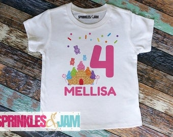 Candyland Birthday Shirt, Candyland Birthday Outfit, Sweet Shoppe 1st Birthday, Girls Birthday Shirt