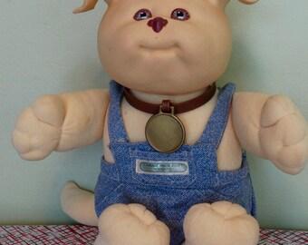 Cabbage Patch Kids Koosas Dog, vintage 1980's cabbage patch toy, plush stuffed animal dog