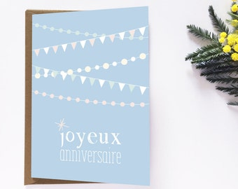 Birthday, happy birthday card, greeting card, credit card, cute card, card party, birthday party, stationery, summer