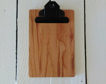 Restaurant Check Presenter, Wooden Cherry Clipboard, Pocket Size