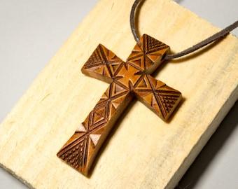 Wooden cross, Wooden Cross Pendant, Mens Cross, Womens Cross