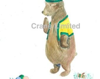 Printable Nursery Art: Bear playing croquet