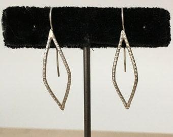 Medium sterling silver petal earrings