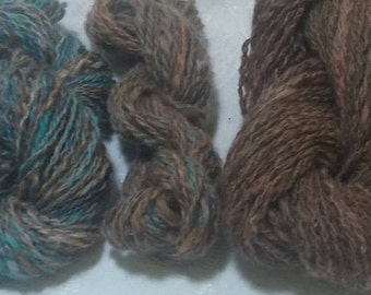 Double-Ply Worsted Handspun Wool Yarn (Lot 71)