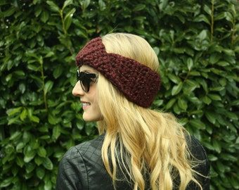 Crochet Ear Warmer, FREE SHIPPING, Neck Warmer, Women's Head Warmer, Knit Turban