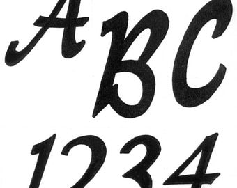 """TRACEABLE ALPHABET #117-  2.5"""" TALL.  All Capital & Small Letters and Numbers"""