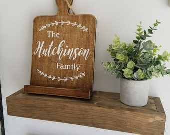 Name Sign -- Recipe Book Holder/Tablet/Ipad