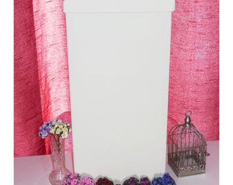 Ivory Card Box, Wedding Card Box, Wedding Mailbox, Wedding Post Box, Keepsake Box, Receiving Box, Silk Wedding Mailbox