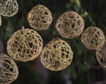 Rustic Twine Ball Decorations