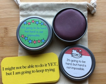 Kids aromatherapy calming dough, growth mindset affirmations, calm down, anxiety aid, portable fidget kit, stim, test anxiety, ADHD, sensory