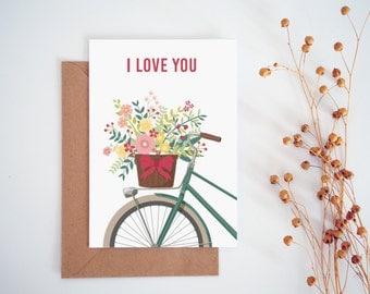 I love you card, Valentines Card, Printable Card, Printable I love you card