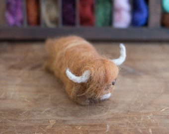 Needle-Felted Highland Cattle