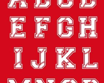 Baseball Letters Svg Baseball Monogram Font Svg Baseball Alphabet Cut Files Silhouette Studio Cricut Svg Dxf Jpg Png Eps