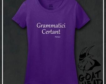 Philosophy Shirt, Grammar Shirt, Literary Gifts, Latin, Gift for Teacher, Literary Shirts, Gift for Her, Gift for Women, Tshirt, Shirt, Tee