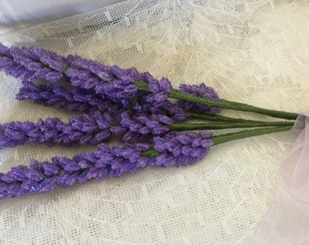 Beaded Lavender Bouquet