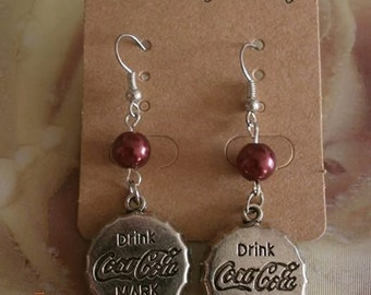 Coca cola Cap earrings