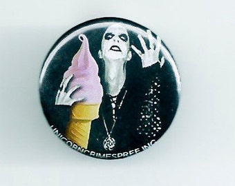 Black metal and Ice Cream Pinback Button