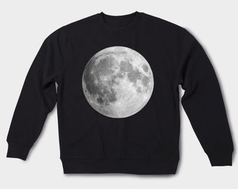 Sweatshirt Printed sweatshirt Nasa sweatshirt Graphic sweatshirt Male sweatshirt Unisex clothing For her Printed sweater Moon shirt GOS017