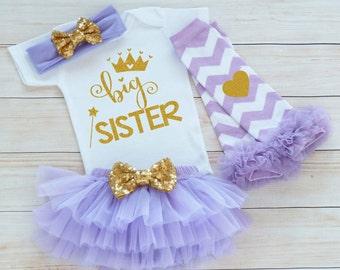 Baby Sister Outfit, Big Sister Shirt, Baby Girl Outfit, Big Sister Baby Bodysuit, Baby Girl Gift, Baby Tutu Outfit, Big Sister, Sister Gift