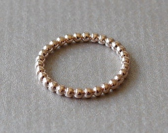 Rose gold-plated knuckle ring ankle ring ball ring Stappelring