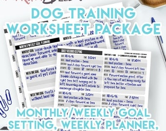 Printable Planner Dog Training Planner and Record Keeping