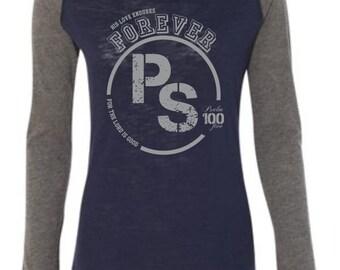His Love Endures Forever Baseball Tee | Christian T shirt | Women's T shirt | Faith Shirt | Bible Verse Tee