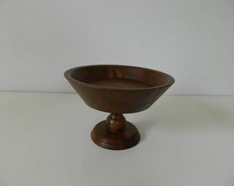 Wood Cake Stand Decorative Pedestal Footed Quality Heirloom