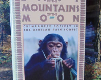 East of the Mountains of the Moon ,  Michael P Ghiglieri  , 1988  , Chimpanzee Society in The African Rain Forest  OOP