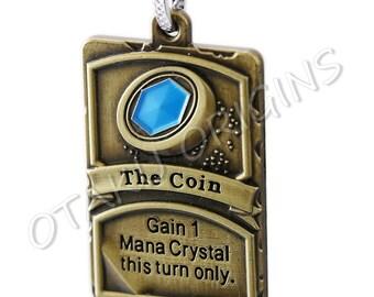 Hearthstone The Coin Card Keychain