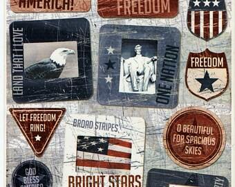 4th July Patriotic Karen Forster Stickers Scrapbook  Embellishments Cardmaking Crafts