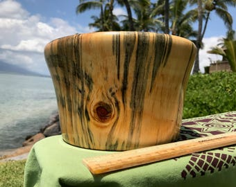 "Hawaiian Norfolk Pine Bowl (Spalted)  - 8"" (20.3 cm) by 4.5"" (12.7 cm)"