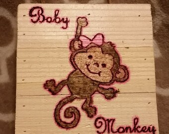 Custom Wood Burned Plaque for Baby's Room