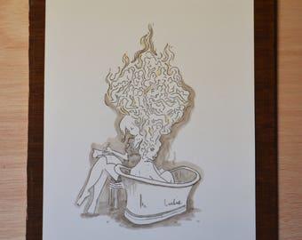 Primavera - work original watercolor illustration