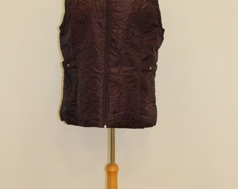 Quilted Flower Gilet (Mauve)