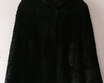 1960s Faux Persian Lamb Fur Jacket